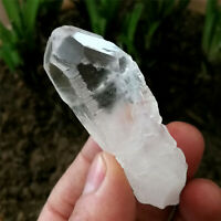 41g Natural Etched Luster Clear Himalaya Nirvana Interference Quartz Specimen