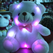 Stuffed Night Light Plush Lovely Holiday Teddy Bear Soft Gift Doll Baby Toy New