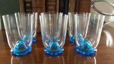Cenedese & Albarelli Murano– Set 6 bicchieri vetro acqua blu marino Art Glass