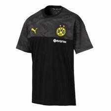Puma Official Mens BVB Borussia Dortmund Football Casuals T-Shirt Tee Top Black