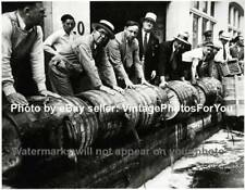 Old Vintage Prohibition Era Bootlegger/Bootlegging Beer/Alcohol Dumped Photo