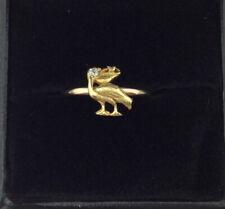 Art Deco ROSE GOLD & YELLOW GOLD & DIAMOND 14CT & 18CT PELICAN RING