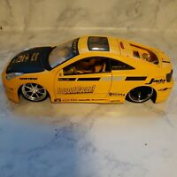 Toyota celica Sports Car import racer metal 1/18  JADA Missing parts Pre-owned S