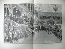 EXPOSITION UNIVERSELLE PALAIS DE L'INDUSTRIE GRAVURES LE MONDE ILLUSTRé 1889
