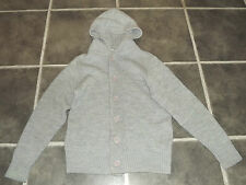 "MENS TOPMAN XS GREY KNITTED HOODED HOODIE CARDIGAN CHEST 36"" 91cm"