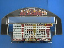 Bally Gaming Inc. Blazing 777 4 Reel Edition Pay Out Chart Slot Machine Casino