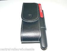 New Victorinox Swiss Army Knife  111mm Leather Belt Sheath & Sharpener