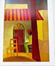 August Macke Poster of Turkish Cafe I Unsigned Offset Lithograph 14x11