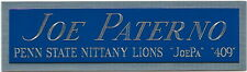 JOE PATERNO PENN STATE NAMEPLATE FOR AUTOGRAPHED Signed FOOTBALL HELMET JERSEY