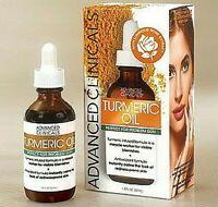 Turmeric Oil Advanced Clinicals Skin Non Greasy Antioxidant Anti-inflammatory