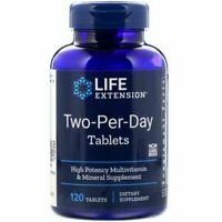 Life Extension, Two-Per-Day , 120 Tablets, potent Multi Vitamins Formula.