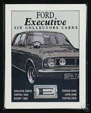 FORD Executive - Collectors CARTA Set - ZODIAC Corsair ESCORT CAPRI CORTINA