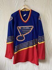 ST LOUIS BLUES 90s VINTAGE HOCKEY SHIRT JERSEY CCM sz XL NHL
