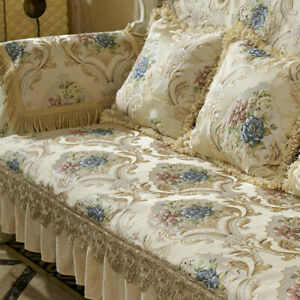 European High Density Lace Sofa Covers 2 3 Seater Slipcover Couch Protector Mat