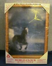 Horse in the Water Wall Clock by World Clock Company Pre-Owned NEW SEALED