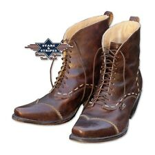 Damen Stiefelette Braun Country Western Cowboy-Stiefel Ankle Boots »ASHLEY« S&S
