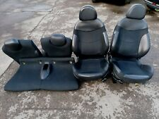 BMW MINI COOPER ONE S D R50 R53 2001-2006 HALF LEATHER FRONT & REAR SEATS BLACK