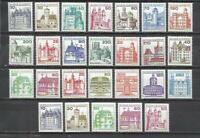 R15-ALEMANIA BERLIN 6 SERIES COMPLETAS MNH** 1977/82. 46,00€ NUEVOS,CASTILLOS Y