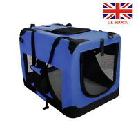 Foldable Pet Carrier Collapsible Fold Up Away Cat  Dog Rabbit Carriers Travel