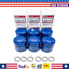Set of 6 Oil Filters Fits For Honda Acura 15400-Plm-A02 15400-Rta-003 Us