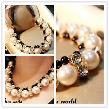 elegant Pearls choker Pendant necklace Fashion Woman Western statement Necklace