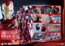 Hot Toys Iron Man Mark XLVI 46 1/6 Scale Figure Diecast Civil War Tony Stark