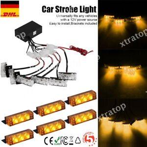 Auto LKW 6X3 LED Gelb Notfall Blitzlicht Frontblitzer Warnleuchte Strobe Leuchte