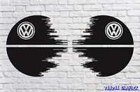 """Volkswagen VW Extra Large 17"""" Decal Graphic X2 Transporter T6 T5 T4 Death Star"""