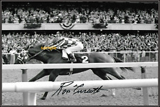 4x6 SIGNED AUTOGRAPH PHOTO REPRINT of Ron Turcotte Canadian horse racing jockey
