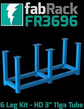 """CertiFlat FR3696 36""""X96"""" FabRack CNC Laser Tube 6 Leg Kit for FabBlock Tables"""