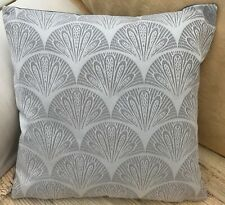 Light Grey with Geometric Design Evans Lichfield Cushion Cover