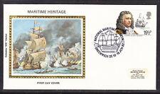 """Great Britain 1982 Marine Heritage Admiral Blake """"Colorano SILK""""  Cover 214p"""