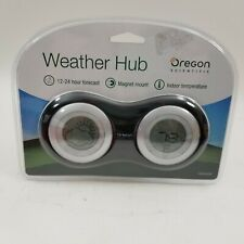 New Oregon Scientific Weather Hub Black, Desk Top Weather Forecaster
