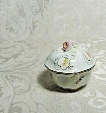 Antica Scatola Porcellana Meissen Trinket Box c1900 Zuccheriera Sugar Bowl w Lid