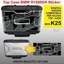 adesivo TOP CASE valigie bauletto BMW R1200GS K25 bussola planisfero 2012 BLK