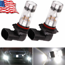 2x 9005 HB3 6000K 100W  2323 LED  Projector Fog Driving Light Bulbs White