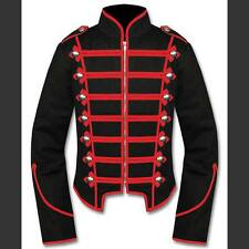 Ladies Vintage Marching Band Drummer Jacket Coat Circus Military Steampunk Black