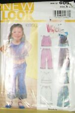 New Look Pattern 6095 Girls 3-8 Easy Crop Tops Pull On Pants 4 Great Sets