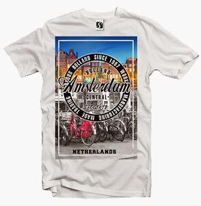Exclusive Men's T-Shirt - Amsterdam Holland (SB343)