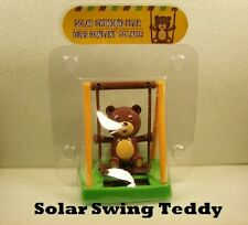Solar Powered Swinging Dancing TEDDY BEAR Novelty Collectible Toy Bobble Head