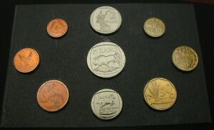 SOUTH AFRICA 1 Cent / 5 Rand 1995 - 9 Coin Mint Set - UNC *