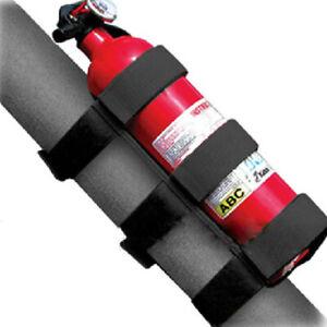 Black Fire Extinguisher Safety Belt Strap Car Roll Bar Holder For Jeep Wrangler