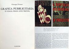 FASCISMO GRAFICA PUBBLICITARIA CON ILLUSTRAZIONI