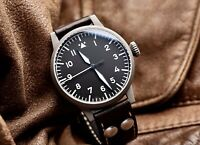 Laco Munster 42mm Type A Flieger Automatic Watch Sapphire Crystal Brand New!