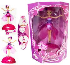 Flying svolazzanti Fairy Girls Bambini Giocattolo Bambola Rosa Ali magica regalo di Natale