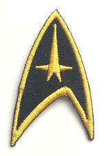 "Star Trek "" Doré Command "" Starfleet Col Insignes Patch Brodé"