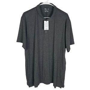 NEW Bonobos Slim Fit Performance Polo Shirt Men's 2XL Gray Wicking Cotton DryTex