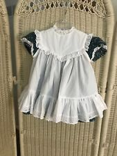 Bryan Vtg Baby girls infant 2 piece Pinafore dress calico Sz 12 Mo   USA  Cotton