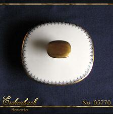 Deckel f. Kanne oder Zuckerdose ¥ Eschenbach Bavaria ¥ Goldrand um1930 Art Déco