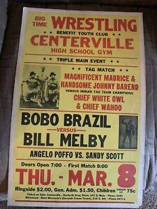Original BOBO BRAZIL Boxing Style Wrestling Poster